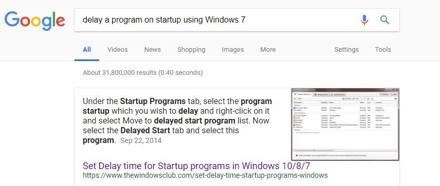 delay startup items windows 10