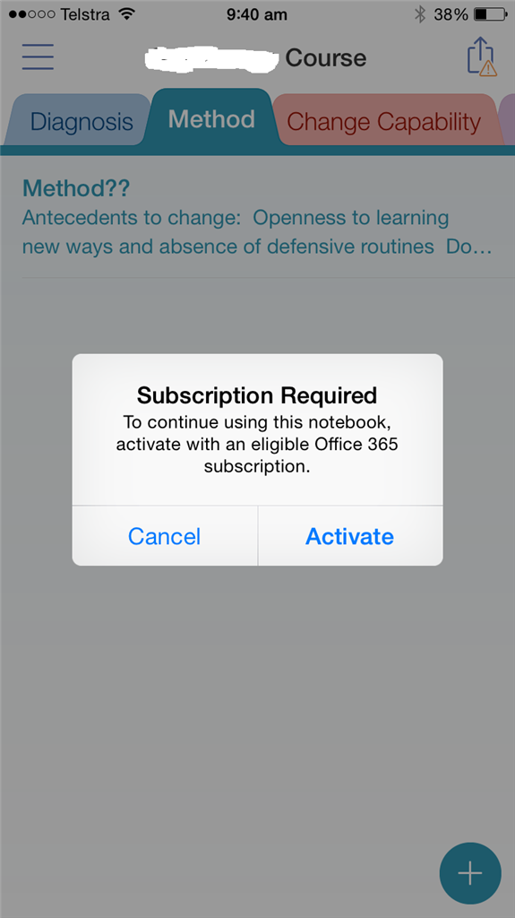 OneNote for iOS constantly needs activation - Microsoft