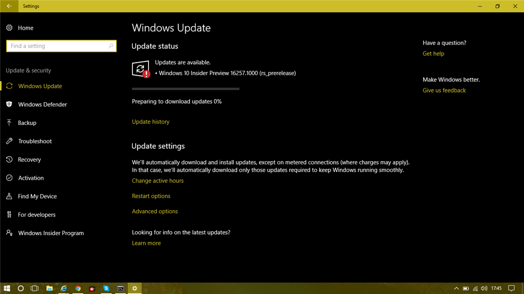 Windows Update not working with red exclamation mark - Microsoft