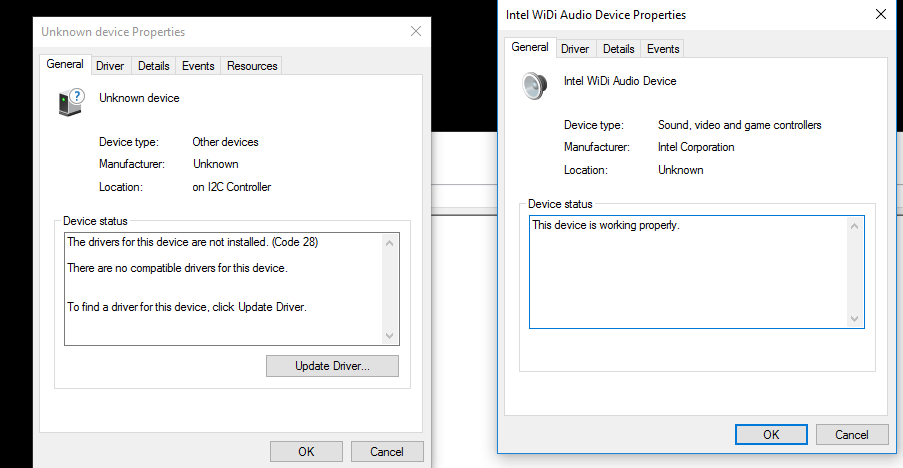 The device can not start (code 10) in Realtek I2S codec - Microsoft