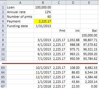 calculate payment with uneven cash flows microsoft community