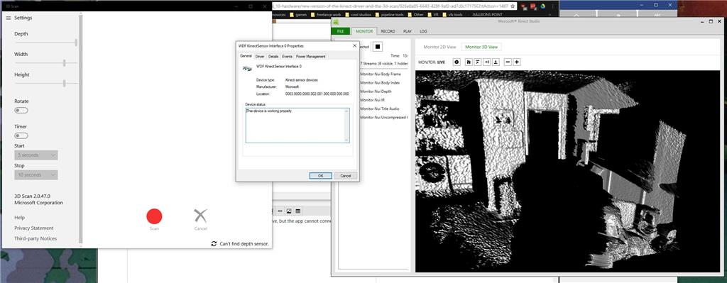 3d Scan - cannot find depth sensor - Microsoft Community
