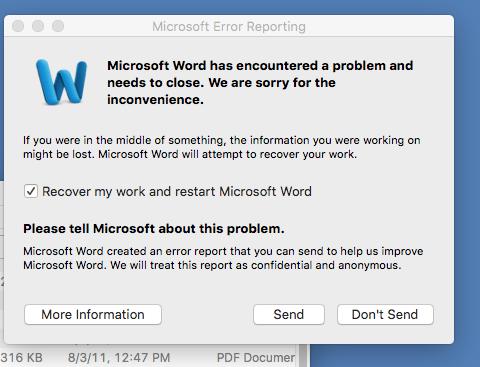 Microsoft Office for Mac 2011 14 5 6 update