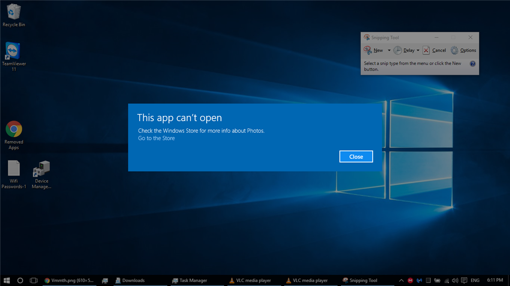 Windows 10 apps won't open