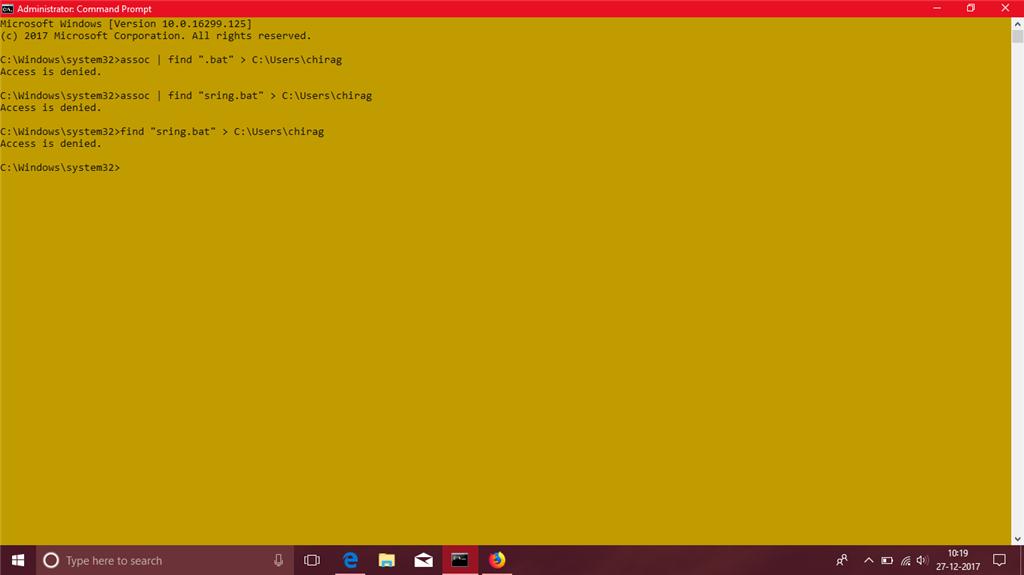 windows 10 administrator cmd access denied - Microsoft Community