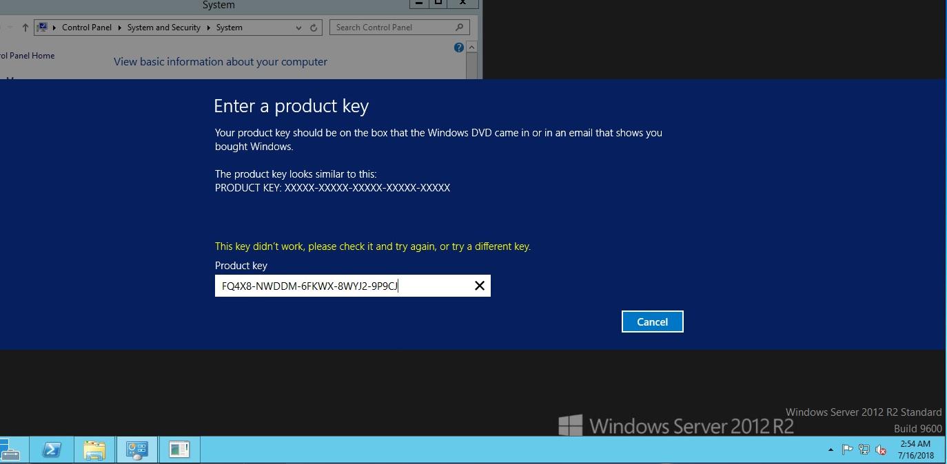 windows server 2012 remove product key