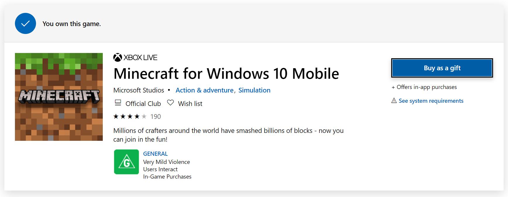 Minecraft downloading/purchasing [IMG]