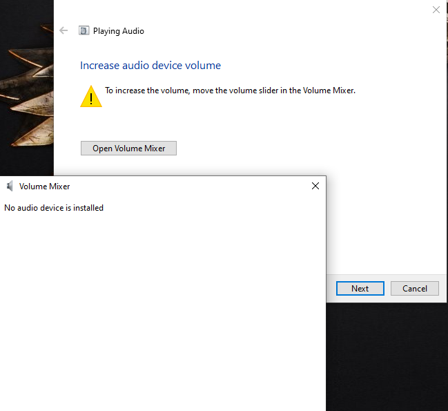 No audio device found after the latest windows 10 update - Microsoft  Community