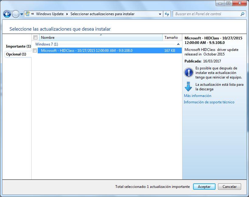 ¿Qué es el driver llamado: Microsoft - HIDClass ... |Microsoft Hid