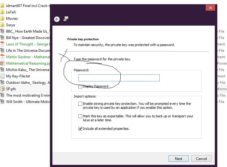 Forgot Password For Pfx Key File Having Decryption Data