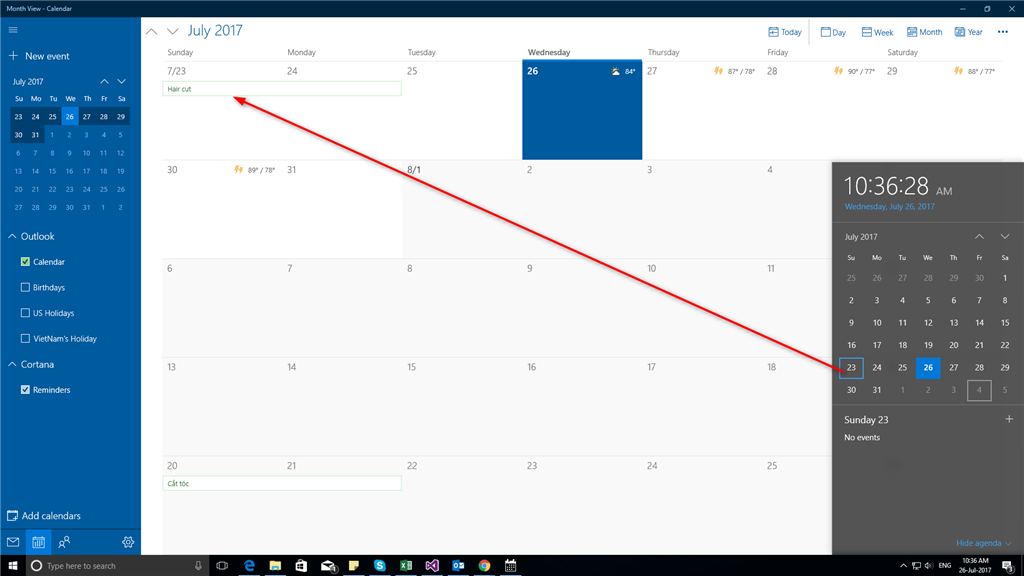 windows 10 agenda the outlook calendar not display on microsoft