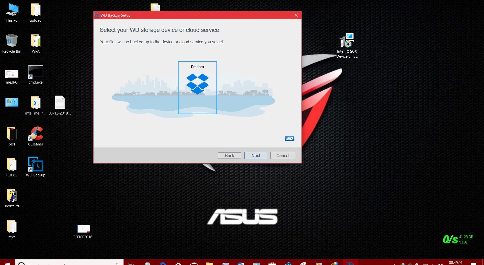 Western Digital backup software not loading - Microsoft