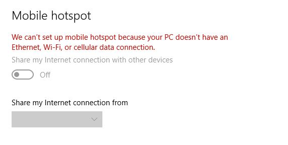 Mobile Hotspot Not working In Windows 10 - Microsoft Community