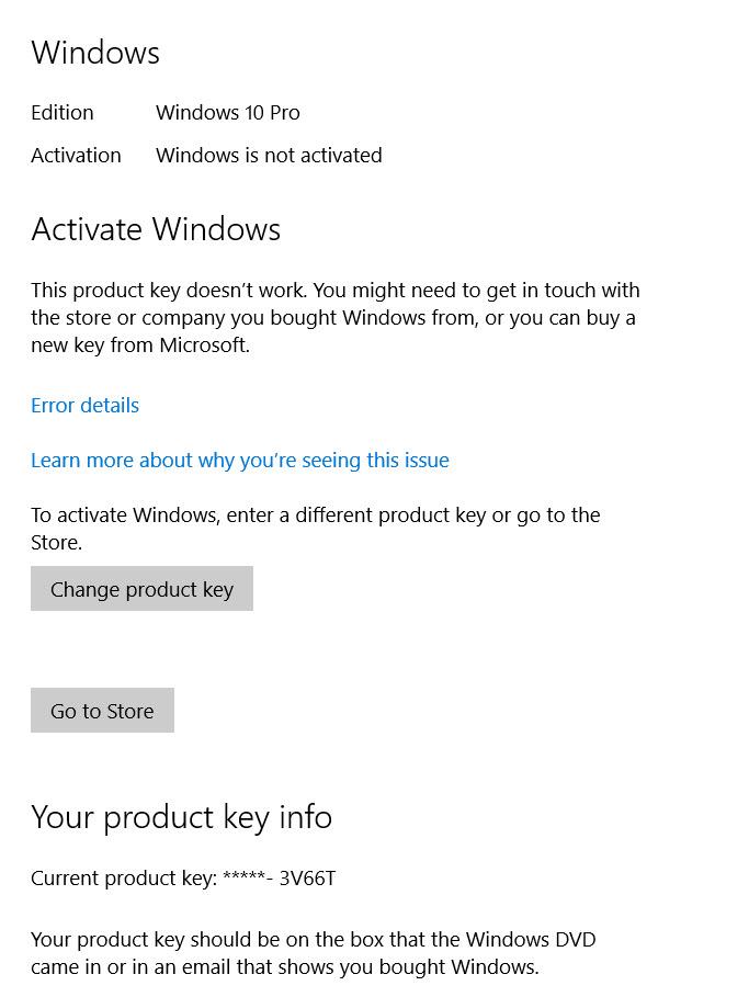 my windows 7 product key won t work