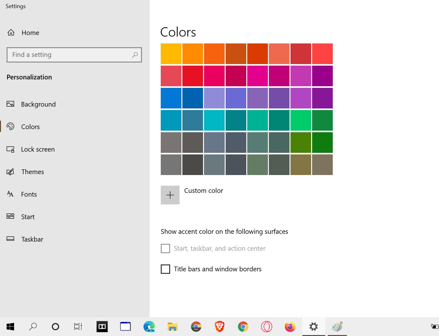 start taskbar action center color stuck after 10 update ...