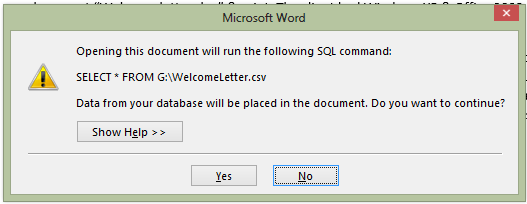 Mail Merge In Word 2013 Is A Mail Merge Main Document