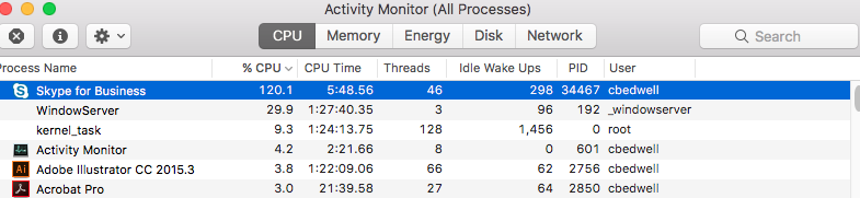 skype using too much cpu