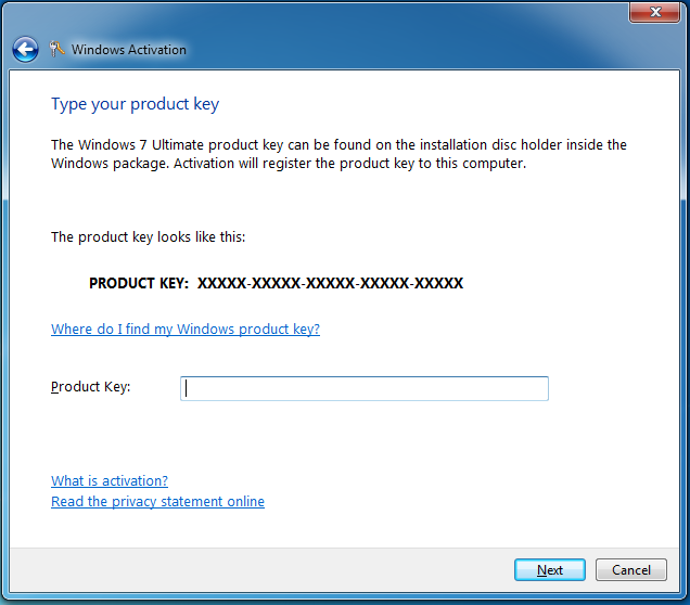 activate windows 7 ultimate oem key