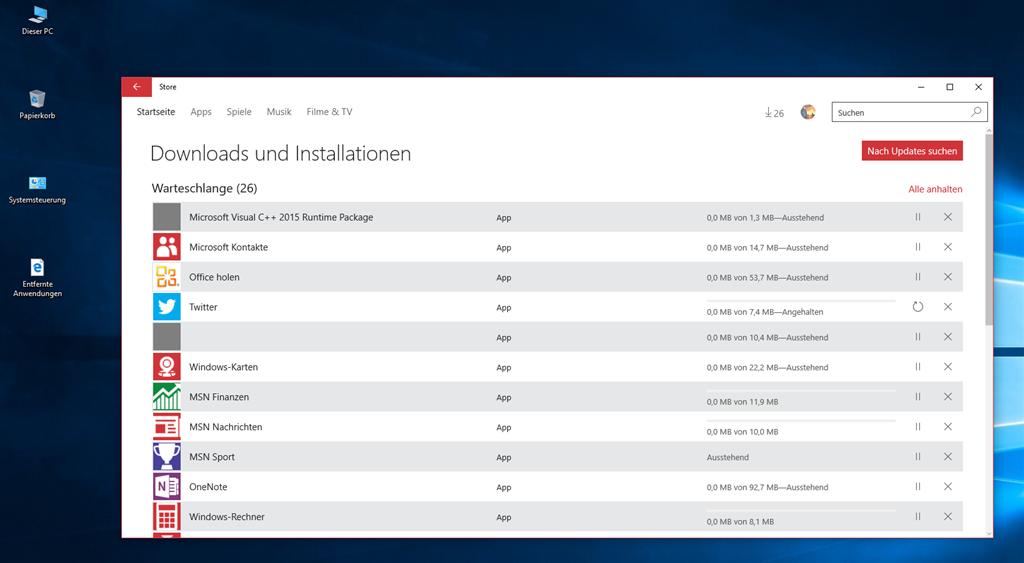 Wenn Windows 10 Store keine Apps mehr herunter lädt... - Microsoft ...