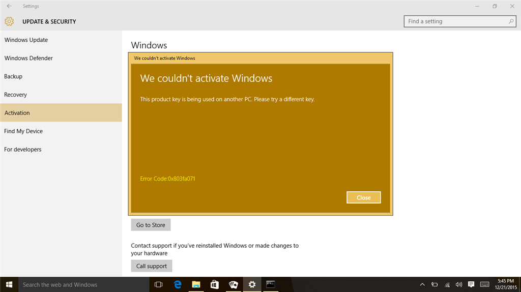 Windows 10 activation issue using windows 7 sp1 pro serial any guesses on whom to contact in case you get the above error message i was told that it does show maximum no of activations done however no one has ccuart Images