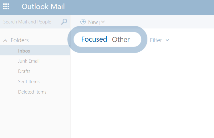 New Outlook mail stuck on Focused other screen  - Microsoft