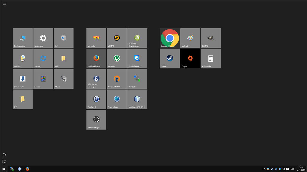 windows 10 how to disable custom tile styles that are used by