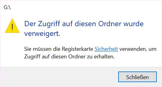 Laptop lässt Festplatten nicht öffnen - Windows 10 Pro
