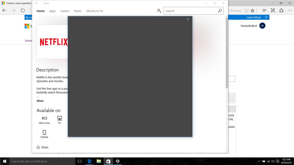 Pop Ups Erlauben Windows 10: Windows 10 Pop-up Screens Just Blank Black Squares