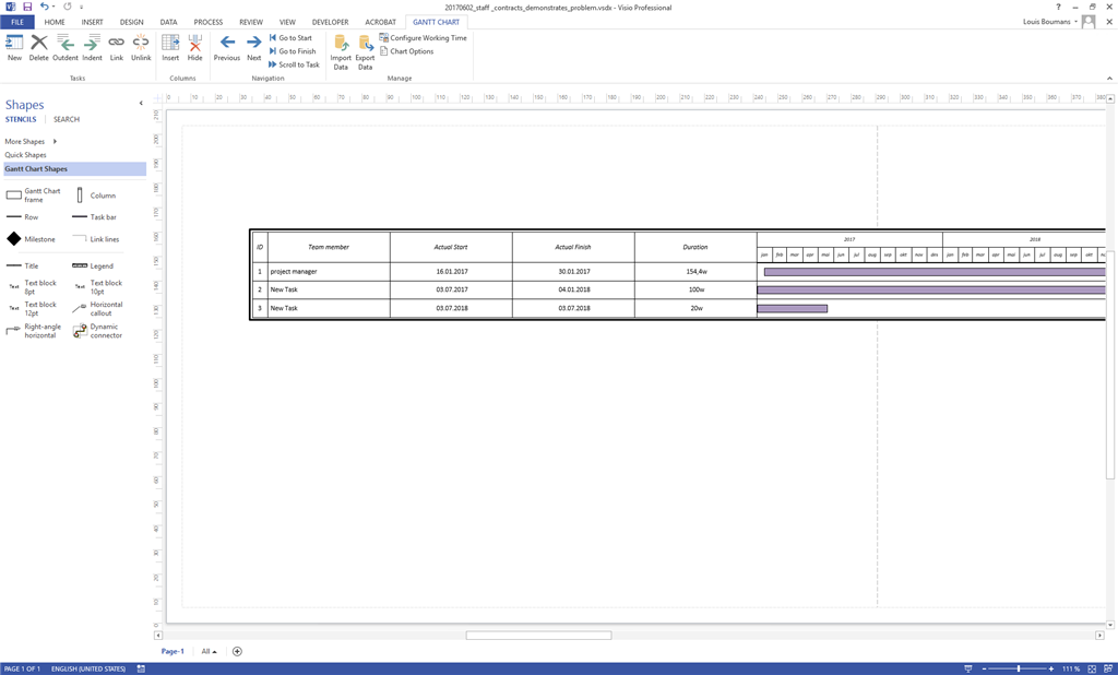 Visio 2013 gantt chart calculations microsoft community image ccuart Image collections