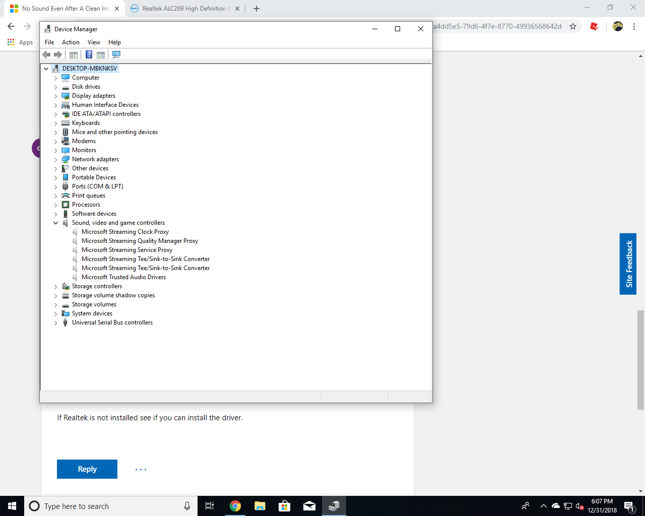 No Sound Even After A Clean Install Of Windows 10 - Microsoft Community
