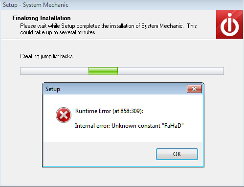 A Runtime Error Message During Installing Iolo System Mechanic 12 Microsoft Community