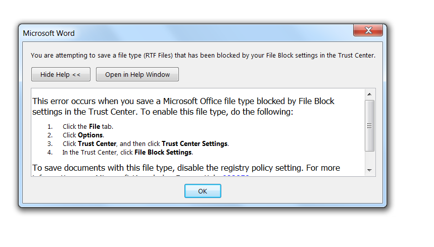 Cannot save or edit RTF Files - Microsoft Community