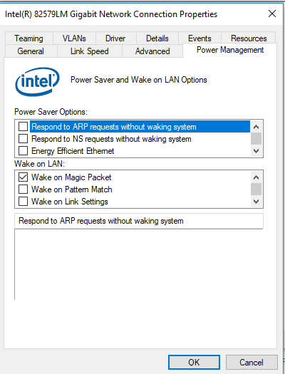 Does Windows 10 Version 1803 Break Wake on Lan? - Microsoft Community