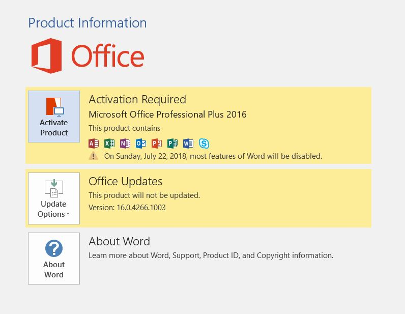 activation keys for microsoft office 2016 professional plus