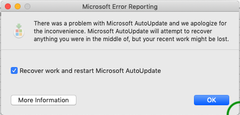 AutoUpdate reports error and does not work - Microsoft Community