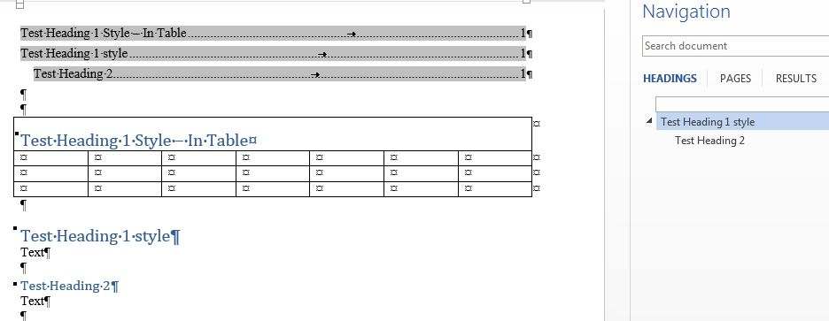 Word 2013 styles in table header row will not appear in image ccuart