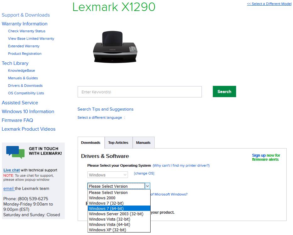 X1290 IMPRIMANTE LEXMARK TÉLÉCHARGER DRIVER