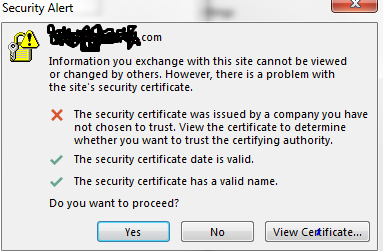 Office 365 Outlook And Activesync Certificate Error