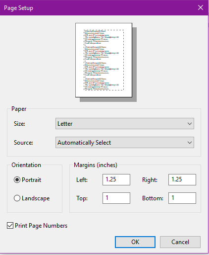 wordpad opens in label size how to select 8 5 x 11 microsoft