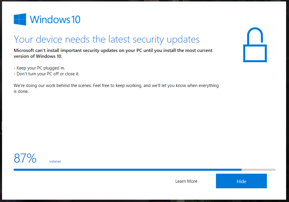 my windows 10 cant update