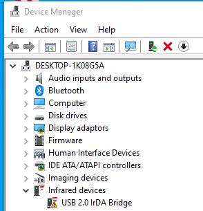 irda not working - Microsoft Community