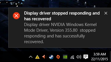 DXGI Error Device Hung/Removed - Microsoft Community