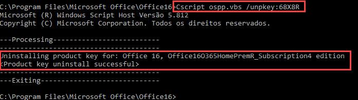 chave de acesso microsoft office professional plus 2016