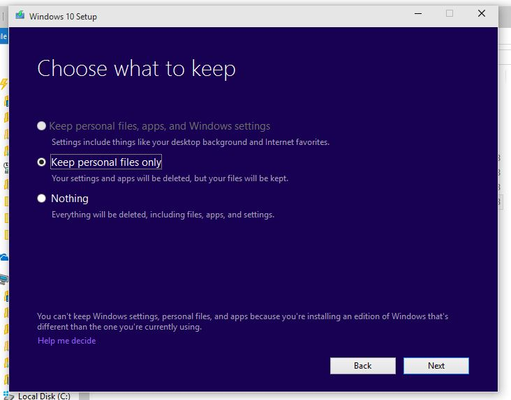 Win 10 build 10130 not upgrading win 10 enterprise 10074 or 10122 i was hoping that i would be able to upgrade from the 10130 iso but it is wanting to do a clean install while saving my personal files but no apps ccuart Images