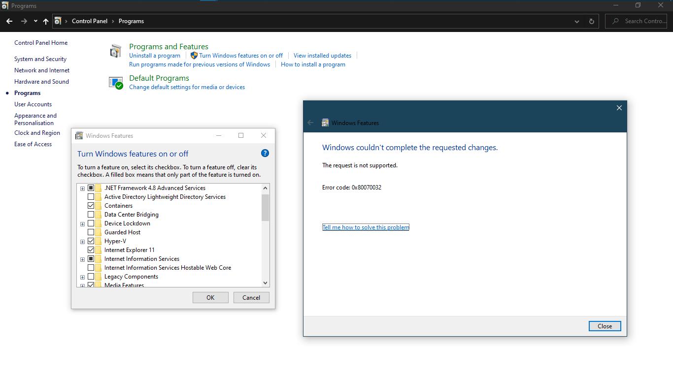 Cannot enable IIS on my windows 27 (Error code: - Microsoft Community