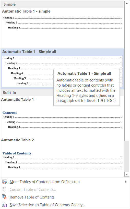 How To Remove The Word Contents From A Contents Table Microsoft