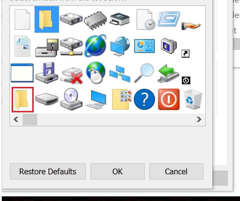 Changing Default folder Icon for ALL folders on Windows 10