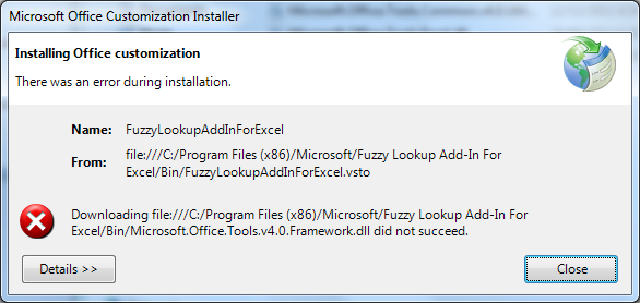 Fuzzy Lookup add-in doesn't appear on my Excel 365
