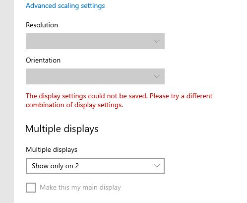Display 1 isn't active windows 10 - Microsoft Community
