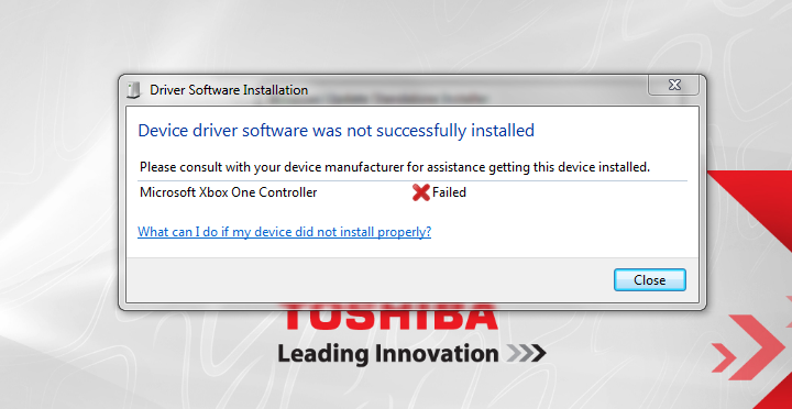 XBOX ONE Controller Failed to install - Microsoft Community